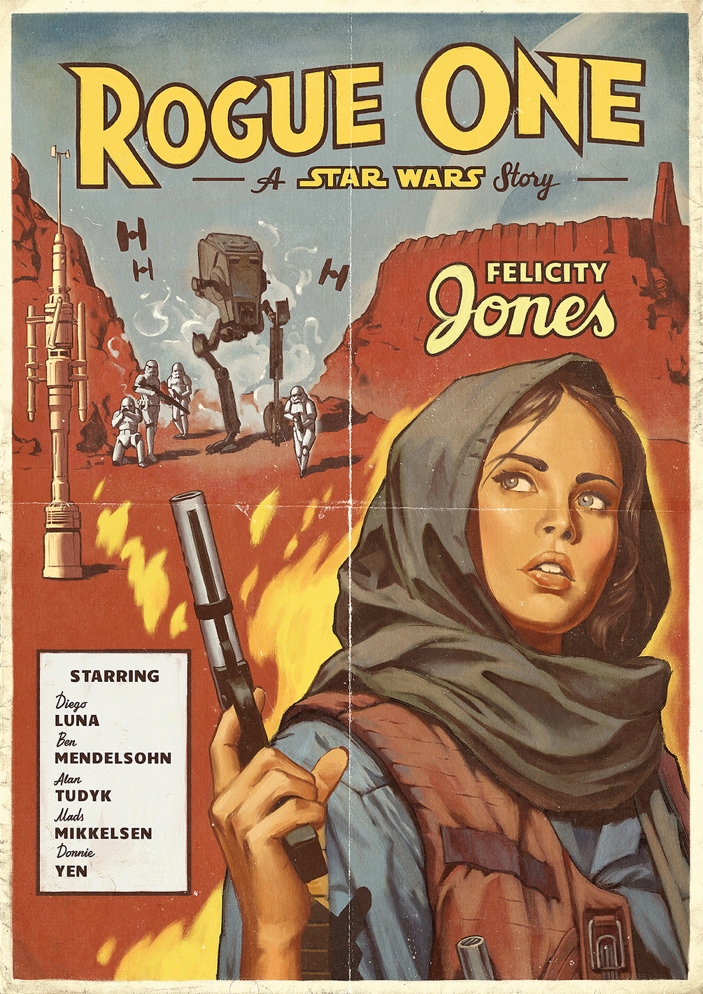 Rogue One Vintage Poster by Alexey Kot