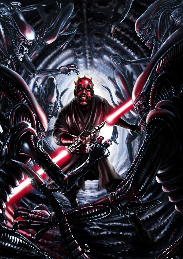 Darth Maul vs Aliens