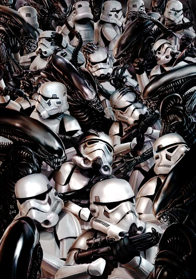 Stormtroopers vs Aliens by Robert Shane