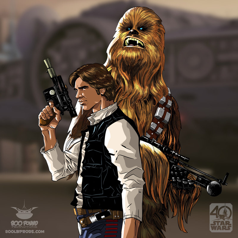 Han Solo & Chewbacca by Michael Pasquale