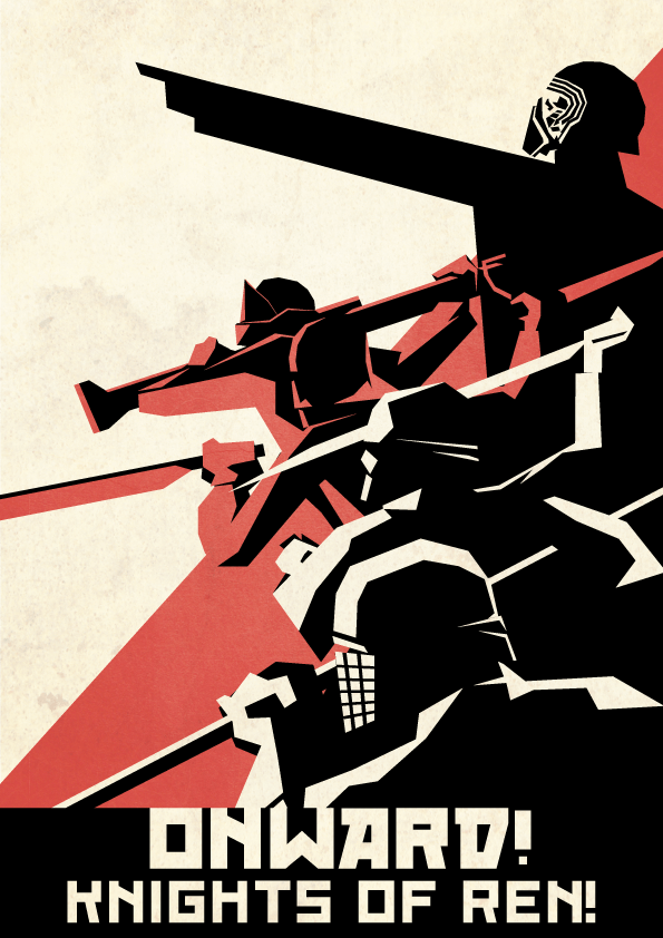 First Order Propaganda Poster Kylo by Ai Vo