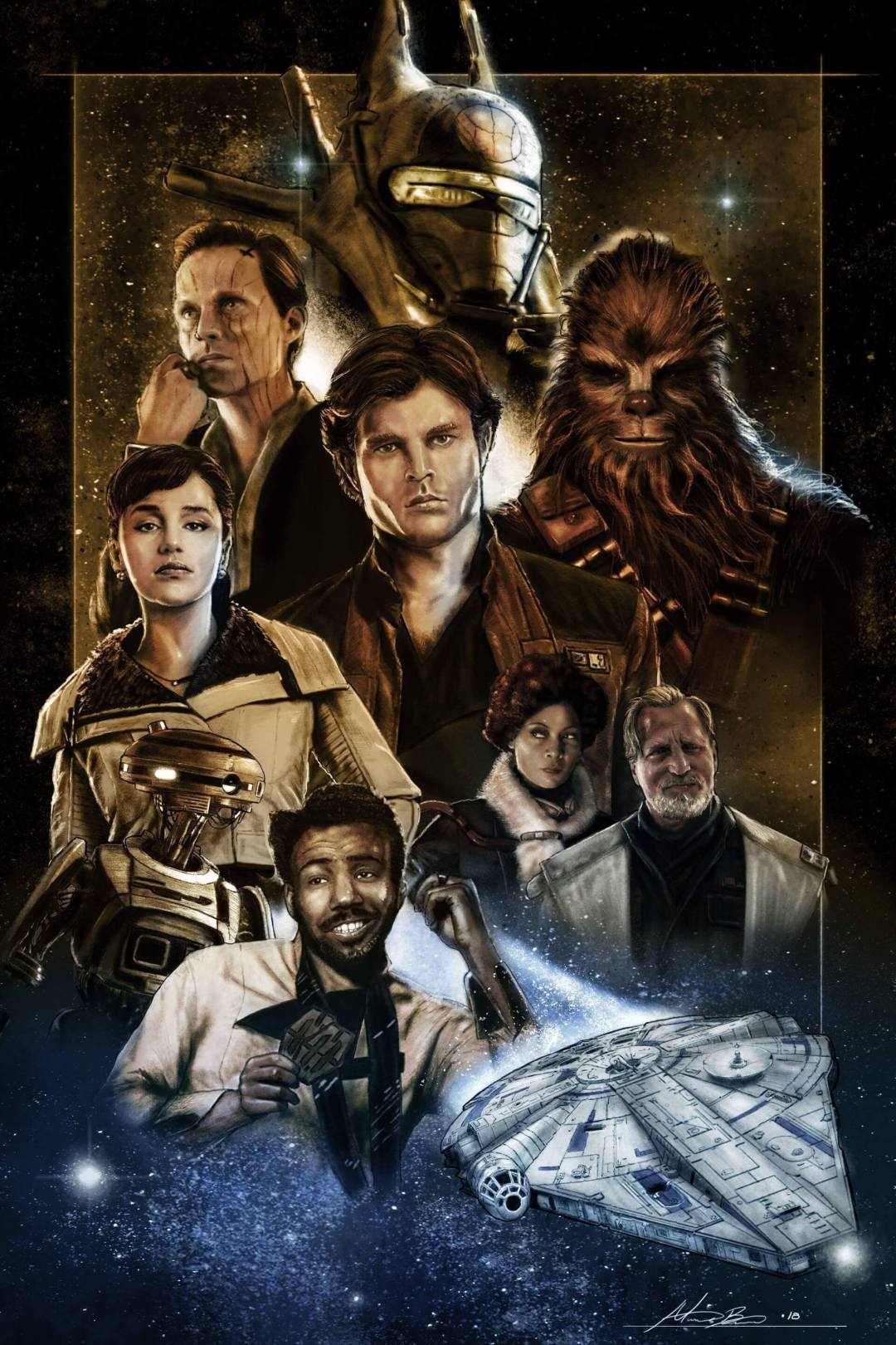 Solo poster (color) by Micah Brown