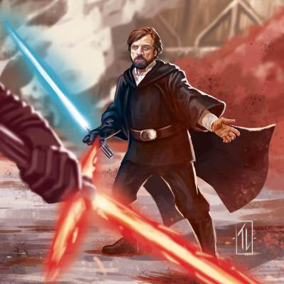 Luke vs Kylo by Thiago Lopes