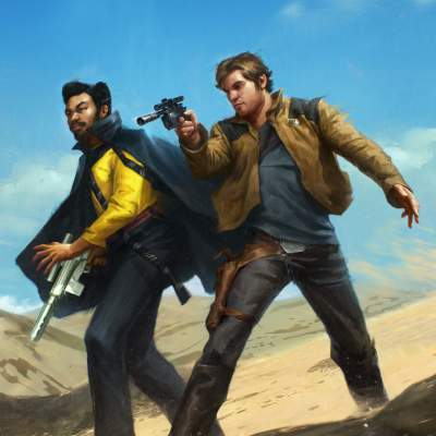 Han & Lando by Grant Griffith