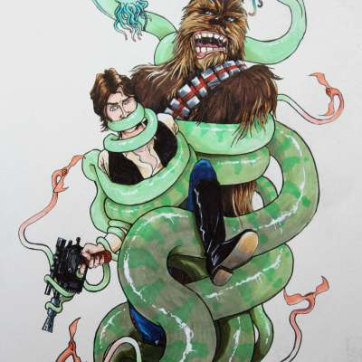 Han & Chewie by Dan Clement