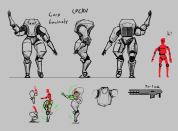Corporate Cavalry Hardsuit Concepts by RoboRogue