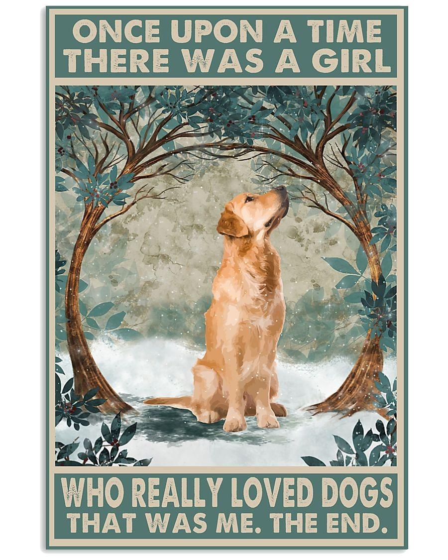 really loved golden retriever poster