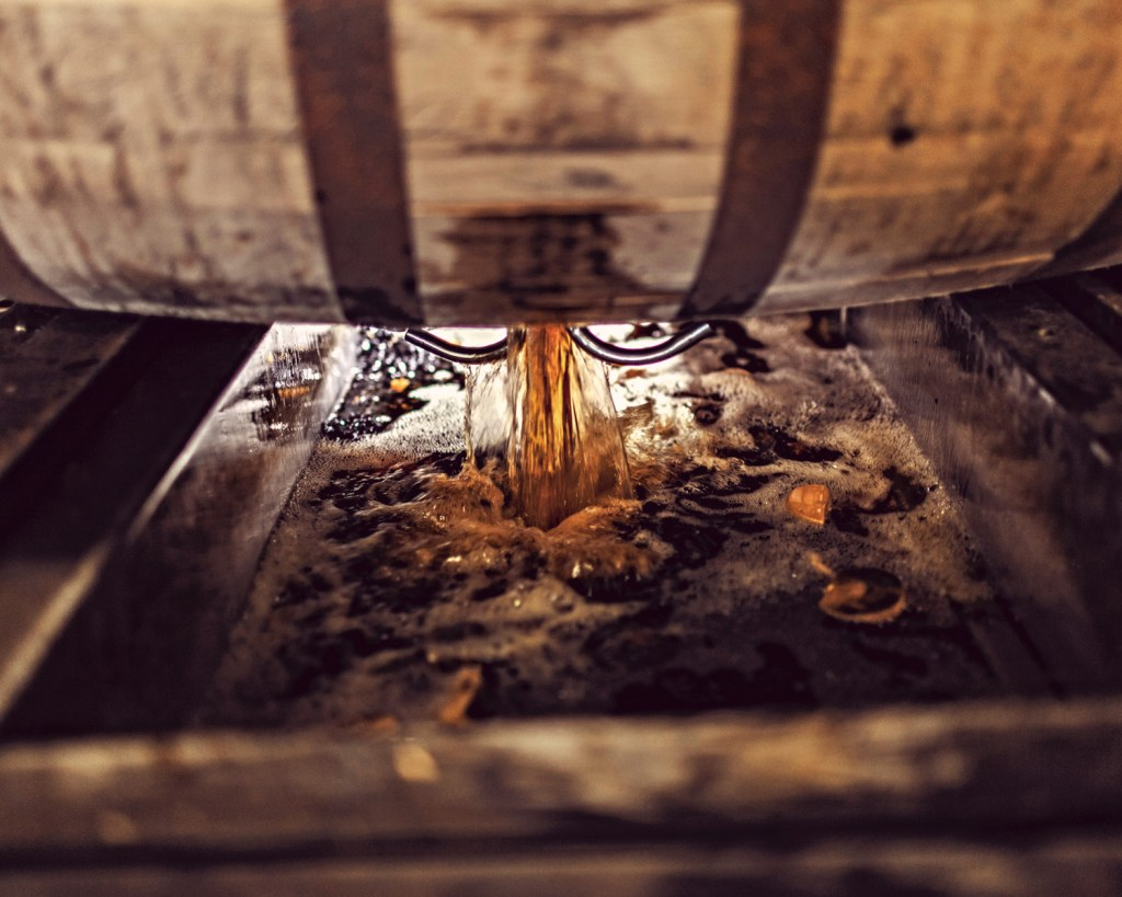 FourRosesBourbon Dumping 1 1024x819 - Kentucky Bourbon Trail® Itinerary