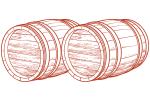 two barrels icon - Half Day