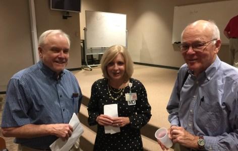 Charlie Casper, Dr. Barbara Casper, and Dr. Garrett Adams at the Grand Rounds.