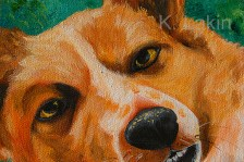 """""""Dog (detail)"""", 2013. 12x16inches, acrylic on canvas."""