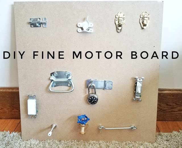 DIY Fine Motor Latch Board for Toddlers
