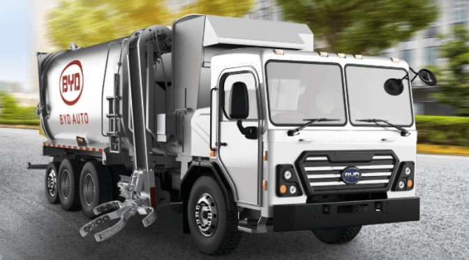 BYD Refuse Truck to Saves $13,000 Per Year In Fuel & Maintenance