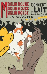 Moolin Rouge - a French Vintage Poster Spoof