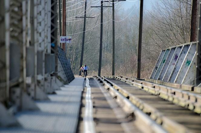 Train bridge near end of Rotary Trail