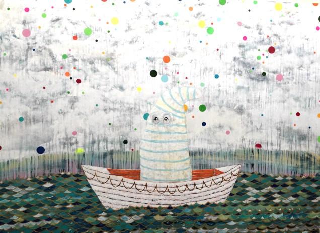 "Man the Lifeboats 54"" x 74""©2015 Kyle Labinsky"