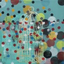 Gilded Cage Acrylic on Canvas, 22 x 22 ©2013 Kyle Labinsky
