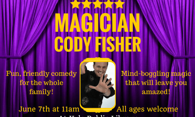 Magician Cody Fisher at the Kyle Public Library