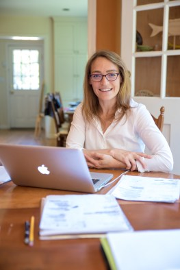 Novelist Wendy Walker in her home in Stamford, Conn. on June 15, 2016.