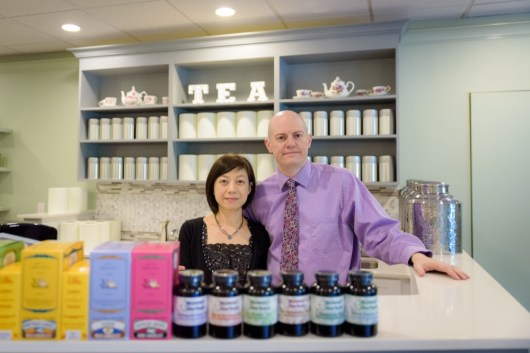 Husband and wife, Shu-Chuan Chen and Alexander Higle, have opened the first tearoom of its kind in Wilton, Conn., Culture Tea, which offers many exotic varieties like the fermented tea-cakes called Pu-erh, and also classes on the education of such teas. August 24, 2016.