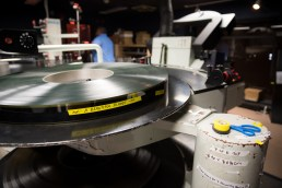 A 'tray' of the movie 'A Beautiful Planet' on 70mm film inside the projection room in the IMAX Theater at the Maritime Aquairum in Norwalk, Conn. on May 4, 2016.
