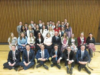 New missionaries with their trainers! Can you spot Elder Norris?