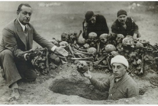 A mass-grave of Armenians in Deir Ezzor, unearthed in the 1930s
