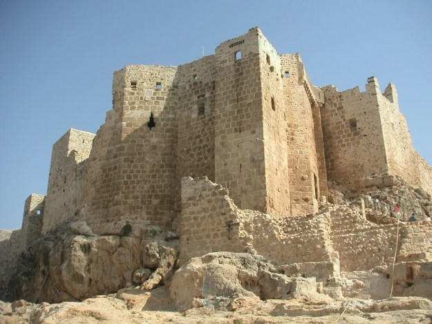 Masyaf fortress, the headquarters of the Nizari Ismailis (The Assassins) in Syria