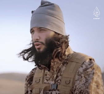 Foued Aggad in IS's Paris video (7.12)