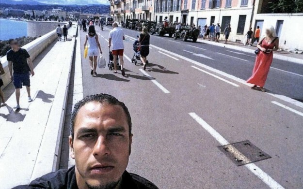 Mohamed Lahouaiej Bouhlel on the promenade in Nice on 14 July 2016