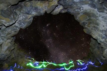 beartrap cave milkyway light painting IDAHO