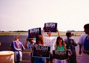 BushQuayle1992NEAirport