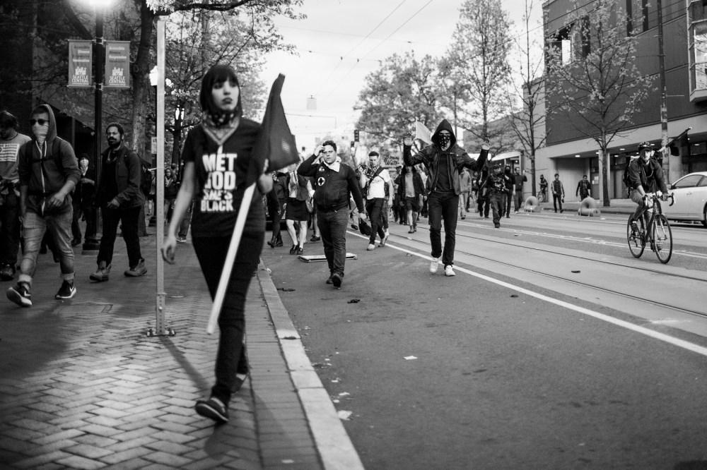 hands up anarchist