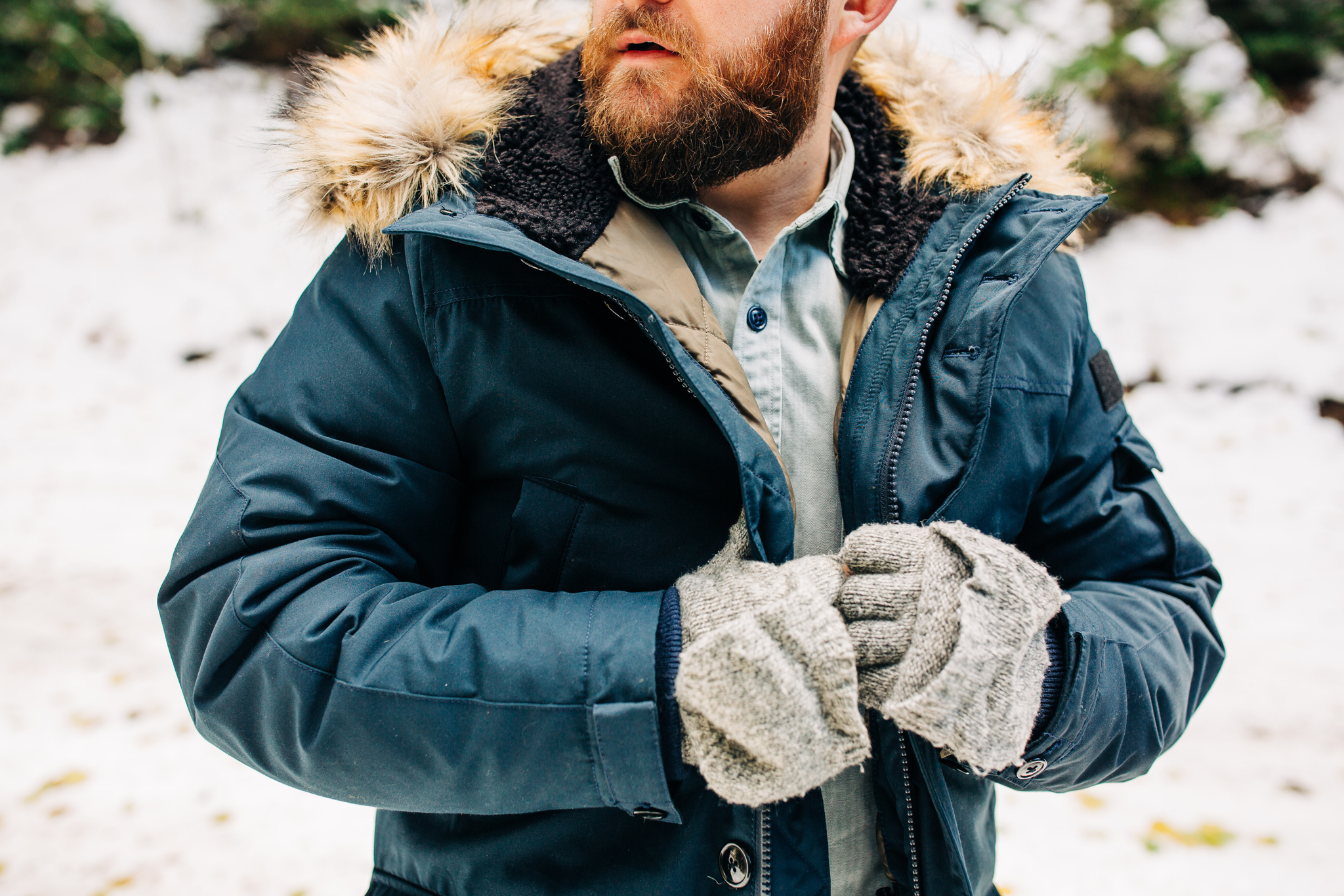modeling the nordic down jacket