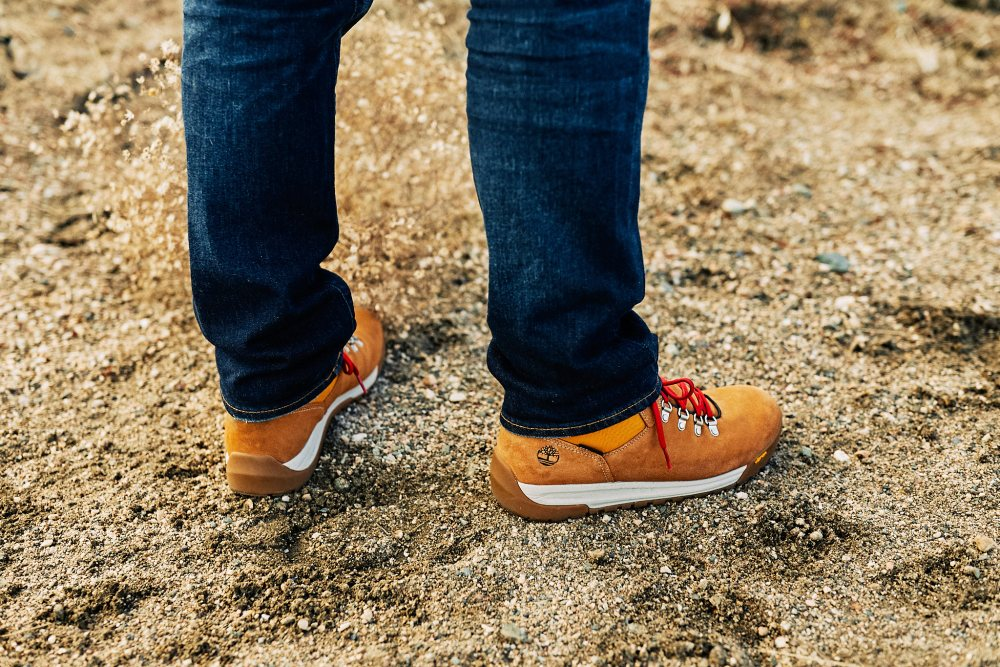 Jcrew stretch denim and timberland boots