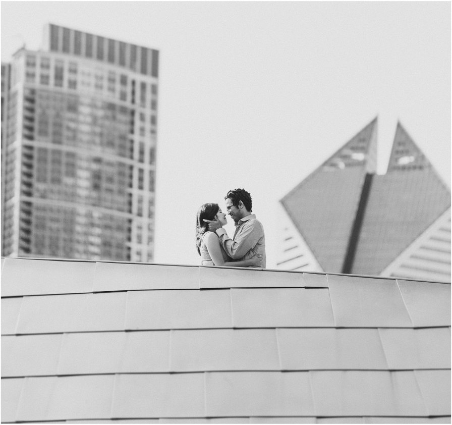 Downtown Chicago Illinois Wedding Engagement Photographer