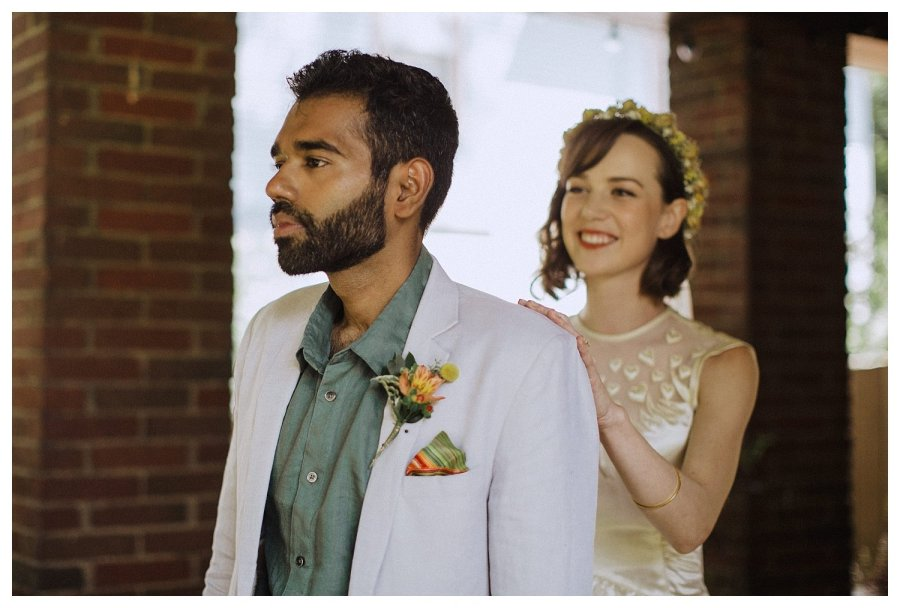 Champaign wedding first look