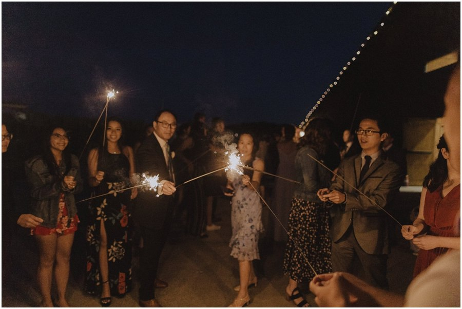 thomas family farm seattle snohomish wedding sparklers