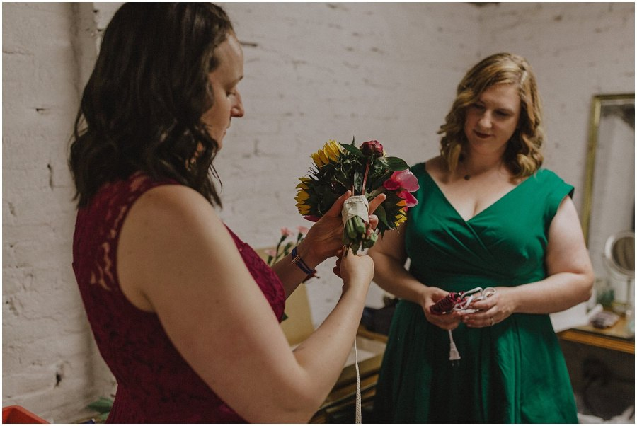 Intimate Filament Theater Chicago Wedding Bouquet