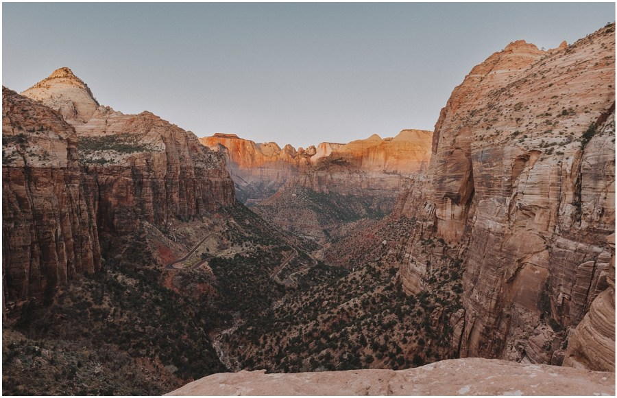Canyon Overlook in Zion National Park Utah Elopement Photographer