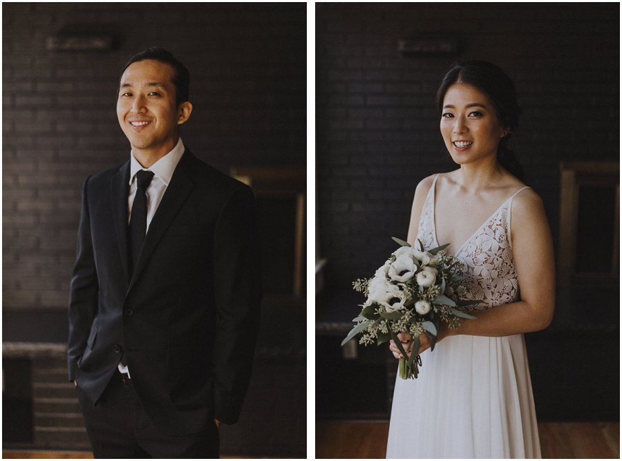 bride and groom smiling Chicago wedding photographer kyle szeto