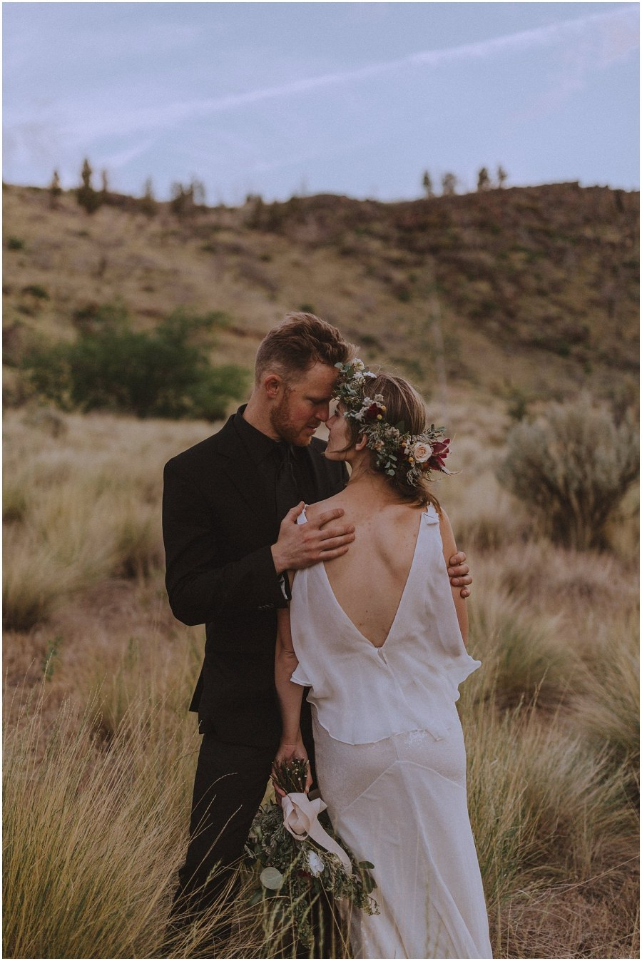 wedding couple cuddling oregon elopement and wedding photographer kyle szeto