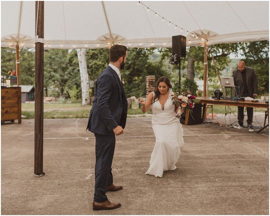 couple dancing into reception wisconsin wedding elopement photographer kyle szeto