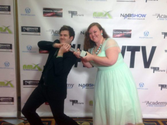 """Trying to take the award for """"Best Production Design"""" at the IAWTV Awards"""
