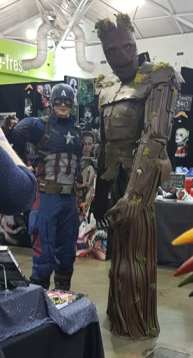 Cap and Groot