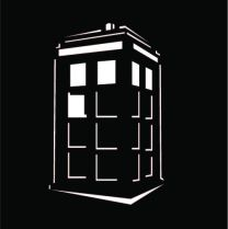 Tardis Outline created in Illustrator for a metal cut out