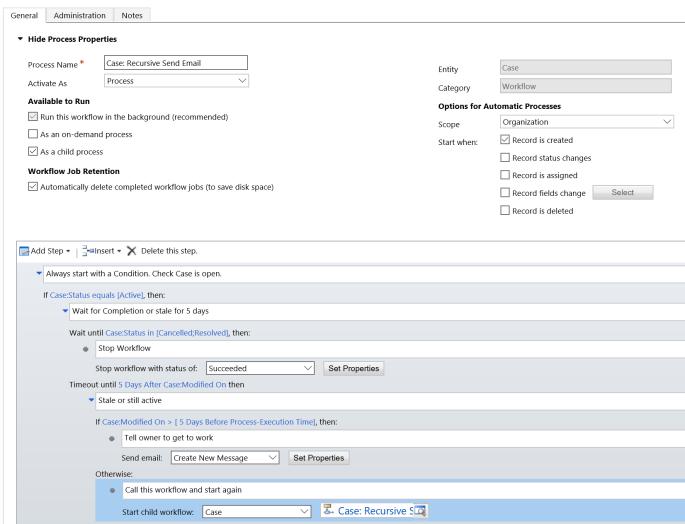 Recursive workflow screenshot