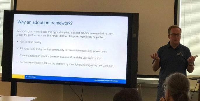 Andrew Welch Power Platform Adoption Framework