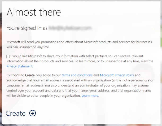 Step 3: Agree to Terms and Conditions