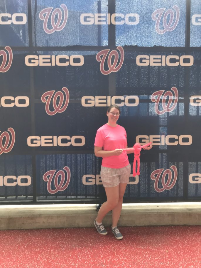 Kylie Kiser and Hashtag at the Washington Nationals Park